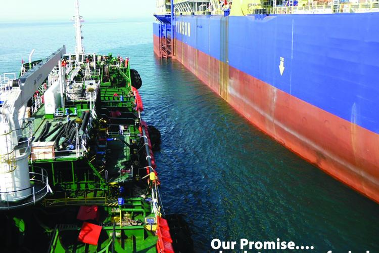 A Floating Production Storage and Offloading (FPSO) Unit getting ready to be Bunkered by AI Energy